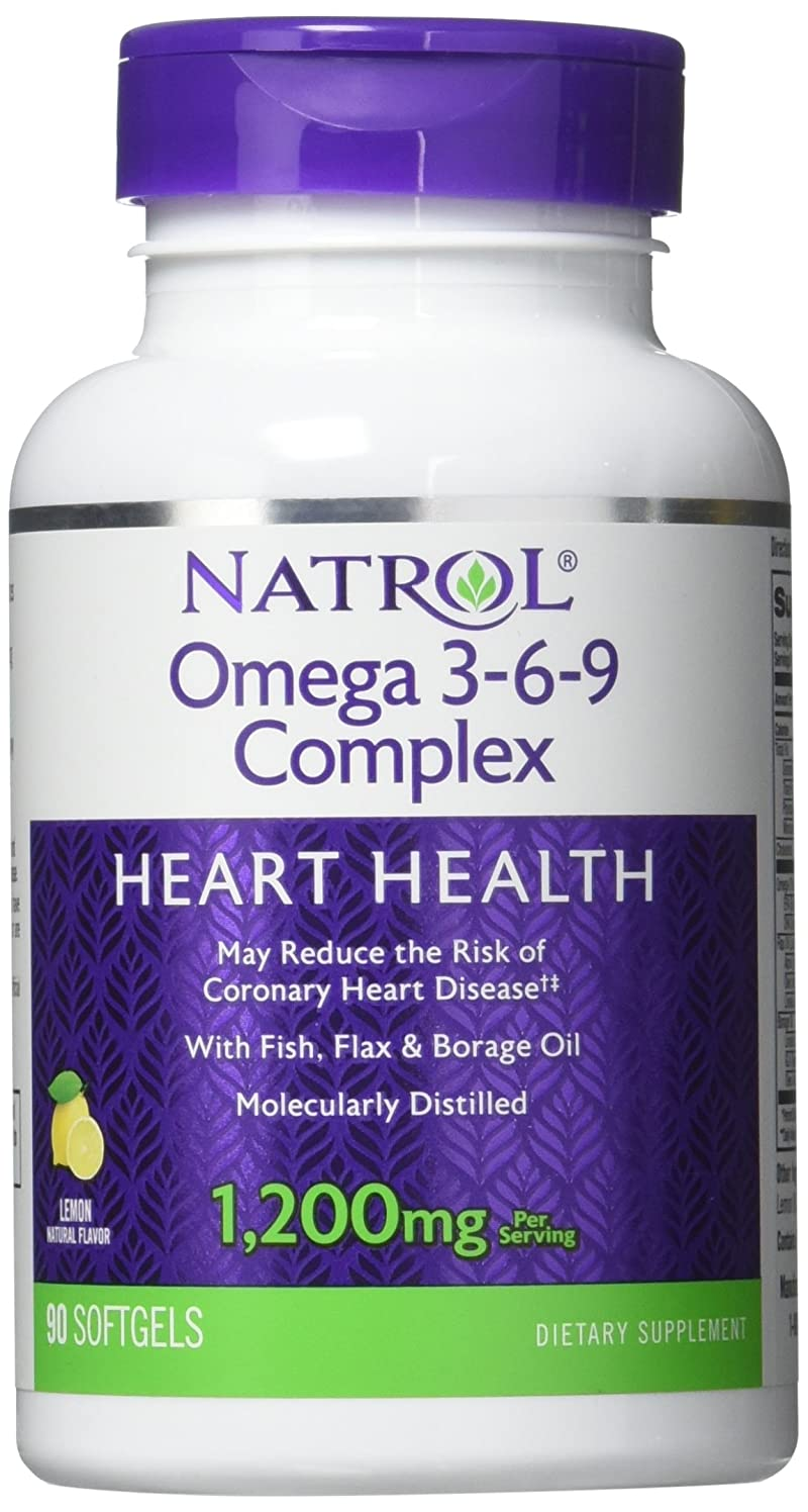 記念品雨軍隊Natrol - Omega 3-6-9 Complex, 90 softgels by Natrol