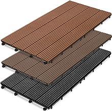 Hori/® WPC BPC Lot complet de lames de terrasse I massives avec base 28 x 50 mm et clips I Longueur 0 I Surface 0