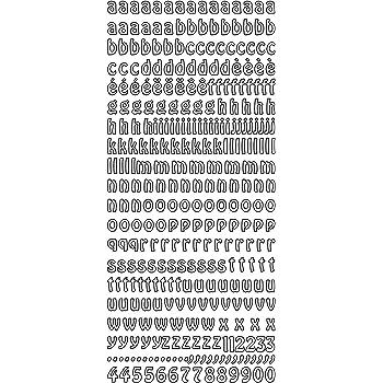 12PT Nero Chartpak Numeri e lettere trasferibili font Helvetica 12 pt 1521 per confezione 00100