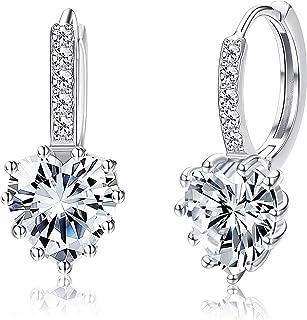 Hoop Earrings Hearts Pink Diamante Silver Tone Small Hoops Pale Rhinestones Understated Chic Ideal Romantic Jewellery Gift