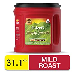 Folgers Simply Smooth Medium Roast Ground Coffee, 31.1 Ounces, Packaging May Vary