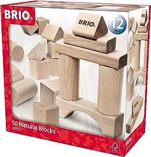 BRIO Wooden Block Set, 50-Piece