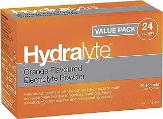 Hydralyte Electrolyte Powder Orange, 24 Sachets 24 Sachets, Orange 117.6 grams