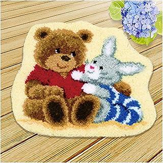 Kits Crochets pour Adultes avec Laine, Kit De Tapis De Crochet De Loquet Bricolage, Tapis De Point De Croix avec Motif De ...