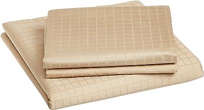 Hotel Linen Box Sateen Queen Size 240 x 260 cm Bedding Set of 3 Pieces, Beige