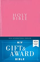 NIV, Gift and Award Bible, Leather-Look, Pink, Red Letter Edition, Comfort Print