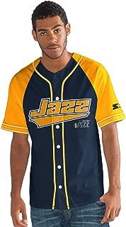 Starter Adult Men The Player Baseball Jersey, Navy, X-Large