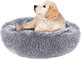PJYuCien Calming Dog Bed Cat Bed, Large Medium Small Pet Beds, Soft Cozy Donut Cuddler Round Plush Beds for Dogs Cats, Wat...
