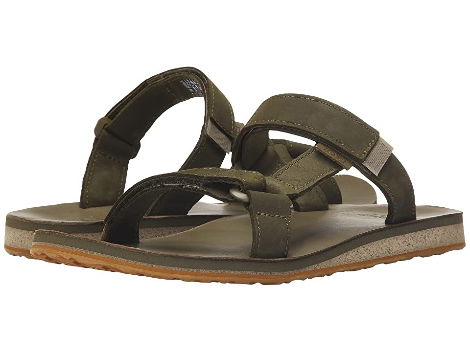 Teva Universal Slide Leather (Dark Olive) Men