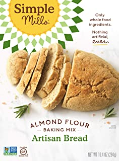 Simple Mills Almond Flour Baking Mix, Gluten Free, Made with whole foods, (Packaging May Vary), (Pack of 1) Artisan Bread ...
