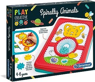 Clementoni- Play Spirally Animals-fabriqué en Italie-kit de Loisir créatif, 4 Ans et Plus, 15275, Multicolore