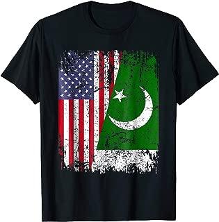 PAKISTANI ROOTS TSHIRT | Half American Flag | PAKISTAN SHIRT