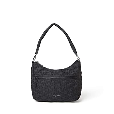 Baggallini Quilted Convertible Hobo (Black) Handbags