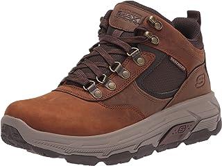 حذاء برقبة للرجال من Skechers USA ، بني، 11