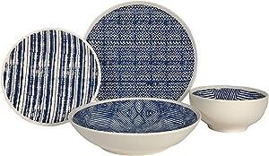 DALTON BLUE 16 PIECE DINNERWARE SET