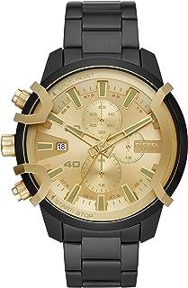 Diesel Griffed Men's Gold Dial Stainless Steel Analog Watch - DZ4525