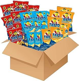 Tayto Variety Pack 10x Cheese & Onion 10x Salt & Vinegar 10x Smokey Bacon 45g Gift Box Potato Crisps Chips ( Irish Online ...