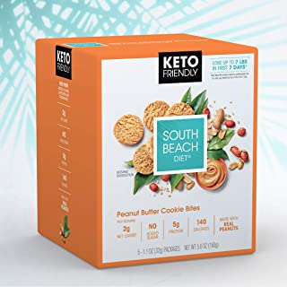 South Beach Diet® Peanut Butter Cookie Bites (20 ct) - Delicious Snacks Made to Support Healthy Weight Loss & Your Keto Lifestyle