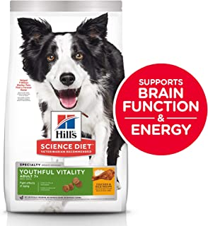 Hill's Science Diet Adult 7+ Youthful Vitality Chicken & Rice Recipe Senior Dry Dog Food 1.58kg Bag