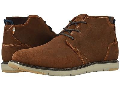 TOMS Navi (Brown Distressed Leather) Men