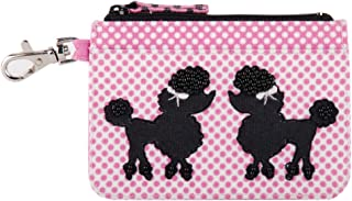 Pinaken Women and Girl's Embroidered & Embellished Multicolour Card Wallet (Poodle Pop)