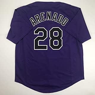 Unsigned Nolan Arenado Colorado Purple Custom Stitched Baseball Jersey Size Men's XL New No Brands/Logos