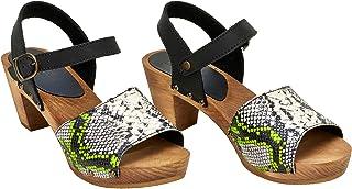 Sanita Sassia Square Flex Sandal | original handgjord | flexibla lädersandaler för kvinnor