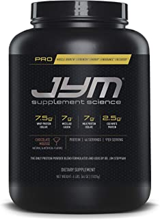 Pro JYM Protein Powder - Egg White, Milk, Whey Protein Isolates & Micellar Casein | JYM Supplement Science | Chocolate Mousse Flavor, 4 lb