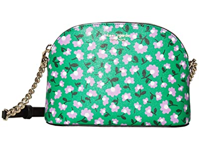 Kate Spade New York Spencer Party Floral Small Dome Crossbody (Green Multi) Handbags