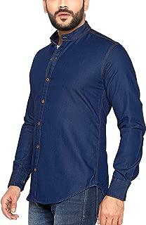 Go Stylish Mens Casual Denim Full Sleeve Shirt for Men