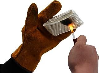 TIG Finger Welding Gloves Shield Guard Heat Protection Gear For Weld Monger US