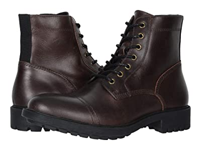 FRYE AND CO. Cody Lace-Up (Dark Brown Vintage Pull Up Leather) Men