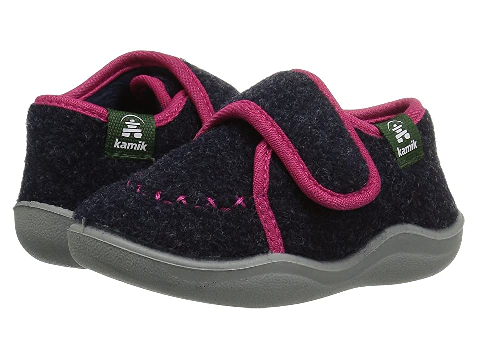 Kamik Kids Cozylodge (Toddler/Little Kid/Big Kid) (Navy/Magenta) Girls Shoes