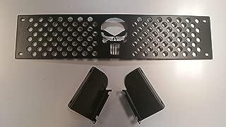 Mountains2Metal 2015-2019 Chevy Silverado 2500 3500 HD Punisher Skull Editon Powder Coated Black Bumper Grille Insert