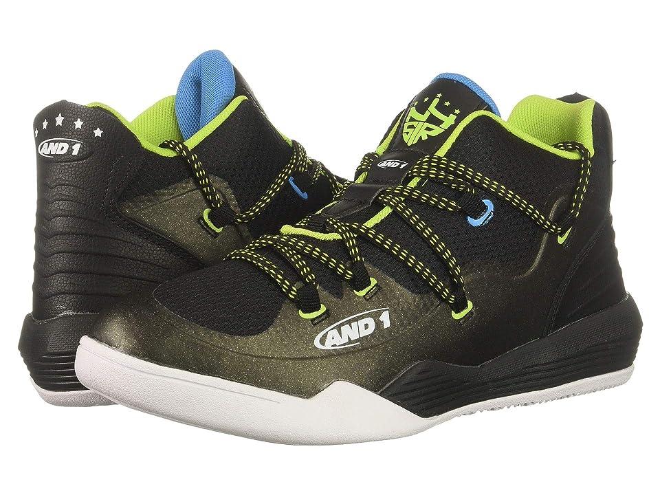 AND1 Kids Enforcer (Little Kid/Big Kid) (Black/Lime Punch/Blue Aster) Boys Shoes