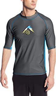 Kanu Surf Men's Mercury UPF 50+ Short Sleeve Sun Protective Rashguard Swim Shirt