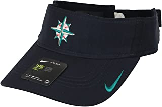 new arrival 996ac c1a31 Nike Men s Seattle Mariners AeroBill Vapor Visor One Size Navy Blue Teal