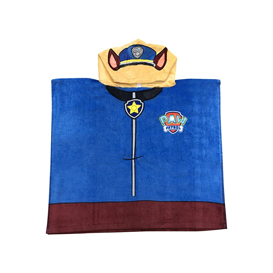 Paw Patrol Boys Chase The cop Dog Hooded Poncho Towel