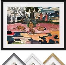 Bilderwelten Póster Enmarcado - Paul Gauguin - God'S Day - Color de Marco Negro 40 x 55cm