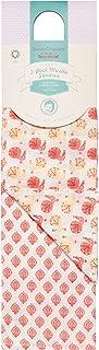 Sense Organics Baby-Mädchen 2er Pack Mullwindeln GOTS-zertifiziert 75x75cm Halstuch, Mehrfarbig AOP Peacock AOP indian BLOCK 781006, One size