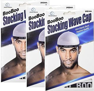 Dream, Boo Boo Stocking Wave Cap, White, 3 pack