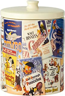 Enesco Ceramics Classic Disney Film Posters Cookie Jar Canister, 9.25 Inch, Multicolor