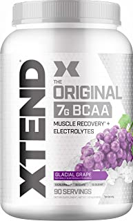 Scivation XTEND Original BCAA Powder Glacial Grape | Sugar Free Post Workout Muscle Recovery Drink with Amino Acids | 7g BCAAs for Men & Women| 90 Servings