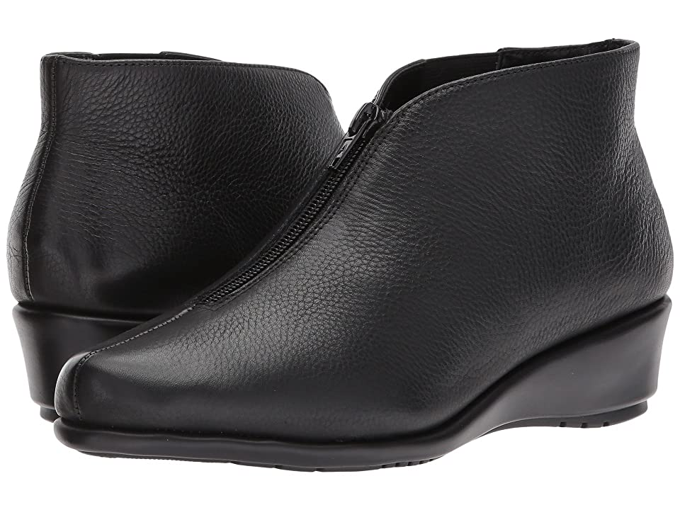 Image of Aerosoles Allowance (Black Leather) Women's Wedge Shoes