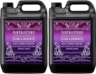 Dirtbusters limpia y elimina los malos olores concentrado 2 x 5 litros profesional para alfombras y tapicería limpiador de extracción
