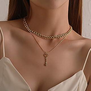 YERTTER Vintage Punk Chunky Choker Key Neckalce Boho Jewelry Chain for Women and Girls