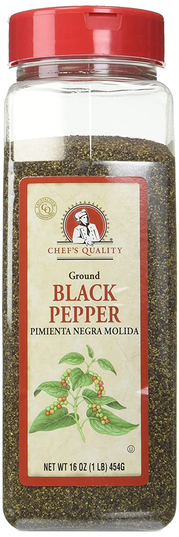 Chef's Quality Chef's Quality Ground Black Pepper 16 Oz