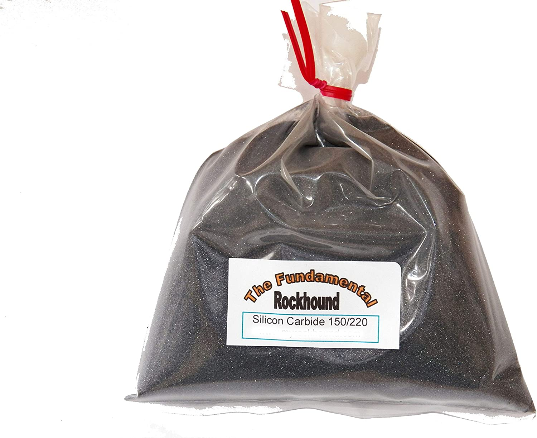 Fundamental Rockhound Products  2 lb 150 220 Medium GRIT for rock tumbling polishing Silicon Carbide