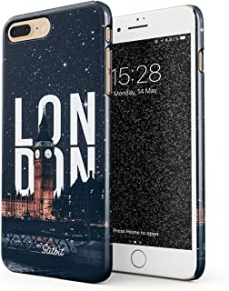 Glitbit Compatible with iPhone 7 Plus / 8 Plus Case London Big Ben Great Britain United Kingdom England Travel Explore Wanderlust Thin Design Durable Hard Shell Plastic Protective Case Cover