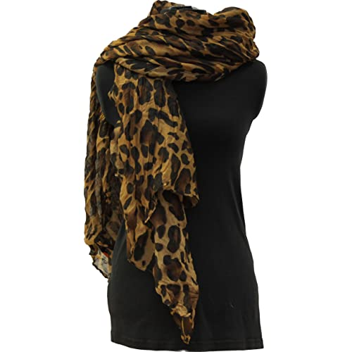 Leopard Print Scarves big soft oversize ladies wrap celebrity fashion gift  scarf 21f1ba779